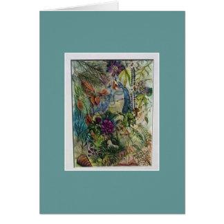 Jungfrau-Mary-RosenbeetWatercolorkunst Karte