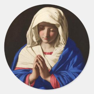 Jungfrau Mary Runder Aufkleber