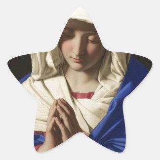 Jungfrau Mary Stern-Aufkleber