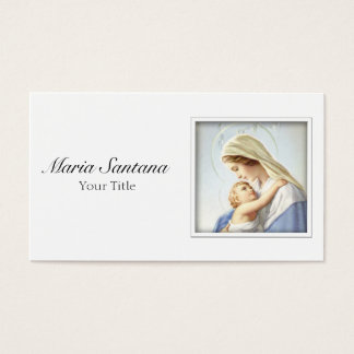 Jungfrau Mary und Baby-Jesus-Geschäfts-Karte Visitenkarte