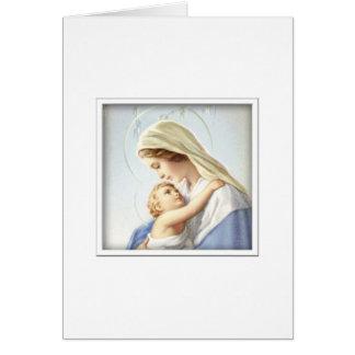 Jungfrau Mary und Baby-Jesus-Karte Karte