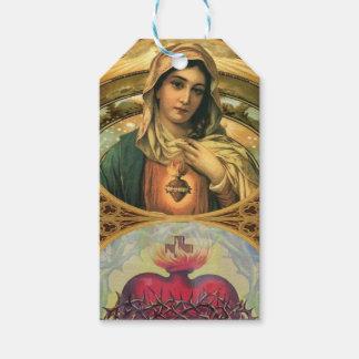Jungfrau Mary und das heilige Herz von Jesus Geschenkanhänger
