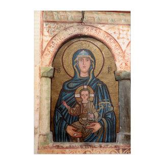 Jungfrau Mary und Jesus-Mosaik Acryl Wandkunst