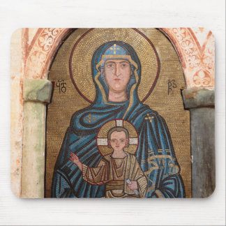 Jungfrau Mary und Jesus-Mosaik Mousepad