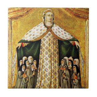 Jungfrau Mary unter ihrer Umhang-Keramik-Fliese Kleine Quadratische Fliese