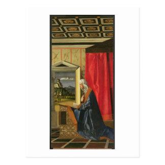 Jungfrau Mary, vom Ankündigung Diptych (Öl an Postkarte