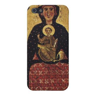Jungfrau-Mutter und Kind, Vintages Porträt iPhone 5 Etui