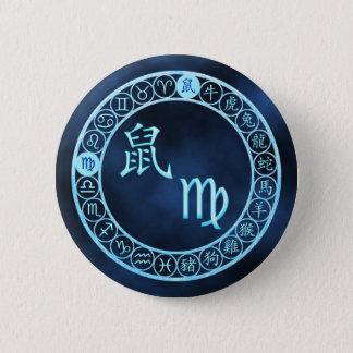 Jungfrau/Ratte Runder Button 5,1 Cm