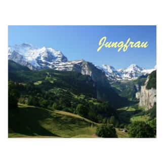 Jungfrau Tal Postkarte