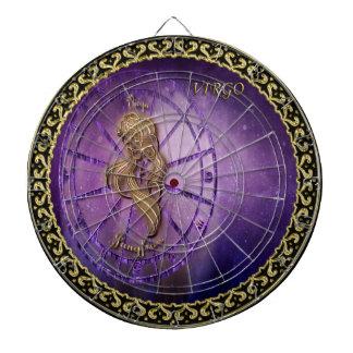 Jungfrau Tierkreis-Astrologieentwurf Horoskop Dartscheibe