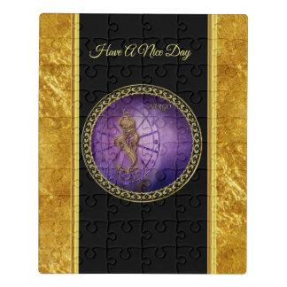 Jungfrau Tierkreis-Astrologieschwarzes und Puzzle