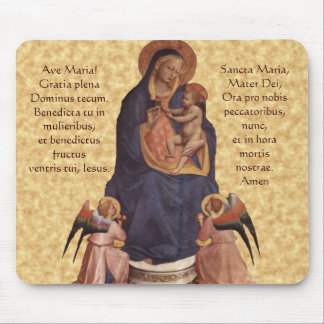 Jungfrau u. Kind, Ave Maria Mausunterlage Mousepads