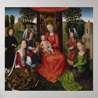 Jungfrau u. Kind mit Heiligen Catherine von Poster