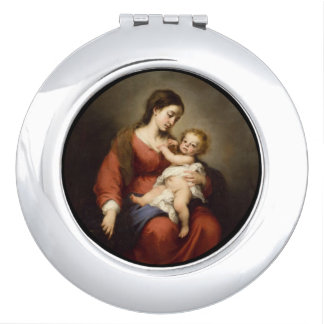 Jungfrau und Christus-Kind Schminkspiegel