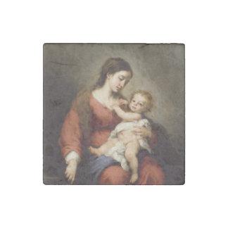 Jungfrau und Christus-Kind Stein-Magnet