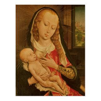 Jungfrau und Kind 2 Postkarte