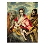 Jungfrau und Kind mit SS. Anne und Joseph Postkarten