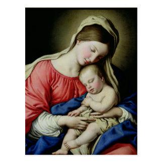 Jungfrau und Kind Postkarte