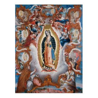 """""""Jungfrau von Guadalupe"""" Postkarte"""
