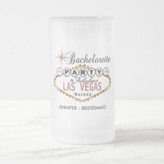 Junggeselinnen-Abschied in Las Vegas - staubige Mattglas Bierglas