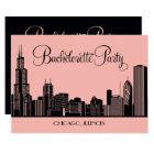 Junggeselinnen-Abschieds-Einladungen| Chicago Karte