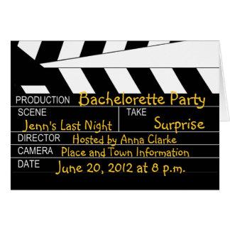 Junggeselinnen-Abschieds-Film-Thema-Einladungen Karte