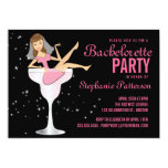 Junggeselinnen-Abschieds-rosa Einladungskarte
