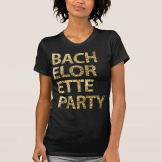 Junggeselinnen-Abschieds-Shirt-Goldfolien-Effekt T-Shirt