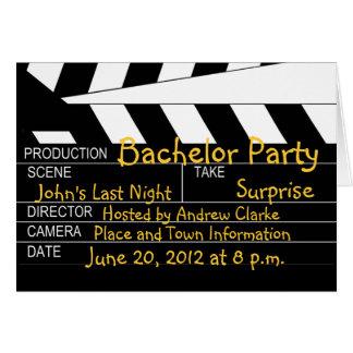 Junggeselle-Party-Film-Thema-Einladungen Karte