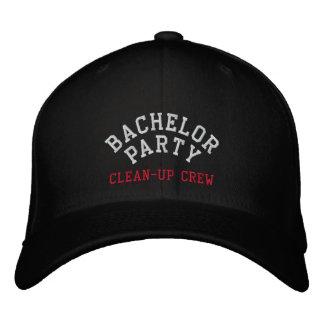 Junggeselle-Party, Reinigungs-Crew, Trauzeuge Bestickte Baseballkappe