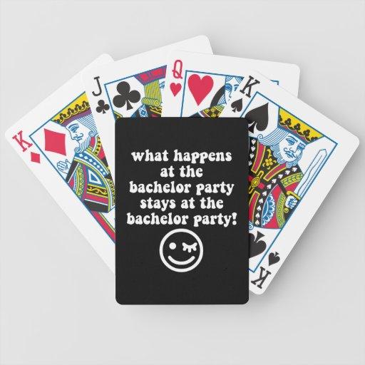 Junggeselle-Party Poker Karten