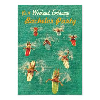 Junggeselle-Wochenenden-Flucht-Party Einladungen