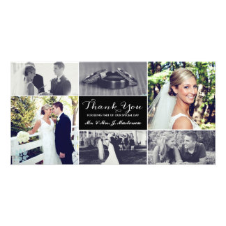 Jungvermählten danken Ihnen Foto-Karte Photo Karten Vorlage