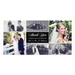 Jungvermählten danken Ihnen Foto-Karte Personalisierte Photo Karte