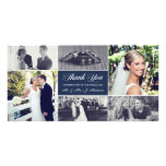 Jungvermählten danken Ihnen Foto Karten Vorlage