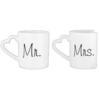 Jungvermählten-Kaffee-Tassen! Herztassen