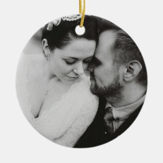 Jungvermählten verbindet Foto-Verzierung Keramik Ornament