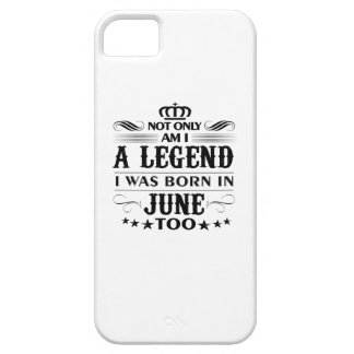 Juni-Monat Legendent-shirts Barely There iPhone 5 Hülle