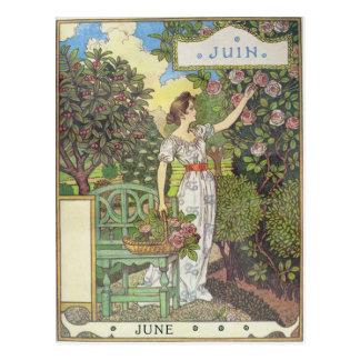 Juni Postkarte