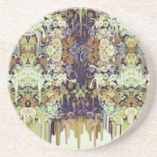 Juni-Wanze, schmelzendes Blumenmuster Getränkeuntersetzer