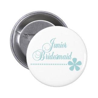 Juniorbrautjungfern-aquamarine Eleganz Runder Button 5,7 Cm