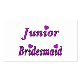 Juniorbrautjungfern-einfach Liebe Visitenkarten Vorlagen