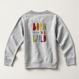Juniorstolz   geboren, wilde   Regenbogenfarben zu Sweatshirt