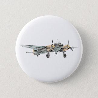 Junkers Ju 88 Bomber-Flugzeug Runder Button 5,7 Cm