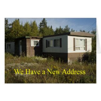 Junkie-bewegliches Zuhause-neue Adressen-Karte Grußkarte