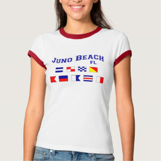 Juno Strand, FL - Seeflaggen-Rechtschreibung T-Shirt