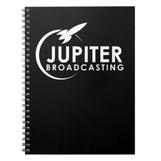 Jupiter, das gewundenes Notizbuch überträgt Notizblock