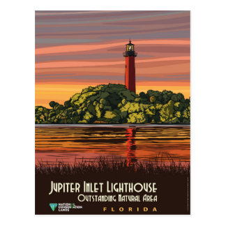Jupiter-Einlass-Leuchtturm Postkarte