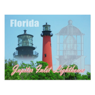 Jupiter-Einlass-Leuchtturm u. Museum, Florida Postkarte