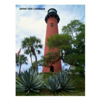 Jupiter-Einlass-Leuchtturm u. Museum Jupiter Postkarte